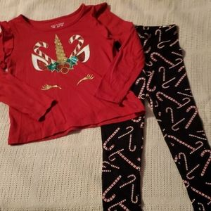 3T Christmas theme outfit